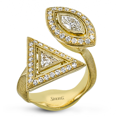 Lr2662 Right Hand Ring 18k White